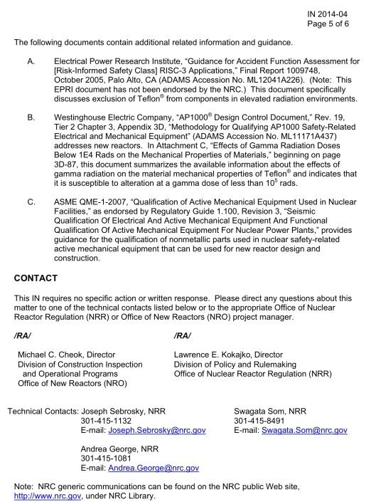 NRC Teflon Safety 26 March 2014, p. 5