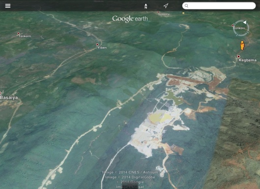 African Minerals Mine near rainforest reserve