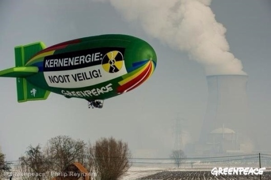 Greenpeace Flemish Blimp over NPS