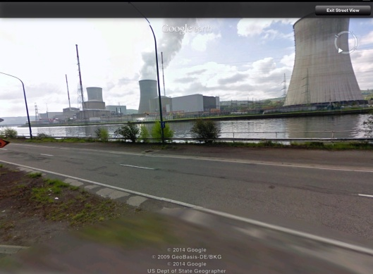 Across Meuse from Tihange
