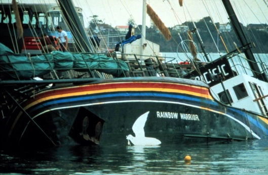 Rainbow Warrior sinking 1985