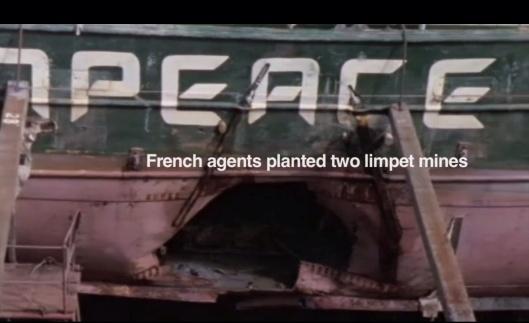 Greenpeace ship bomb image