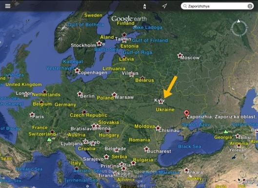 prevailing wind direction evening of 28 Nov. 2014 Kiev