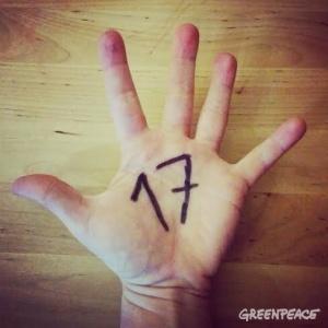17 on hand Greenpeace