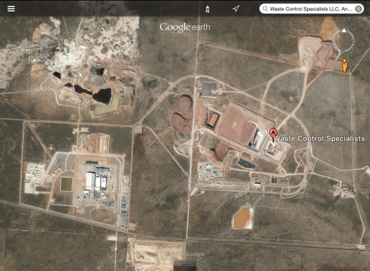 Radioactive Waste Texas zoom out