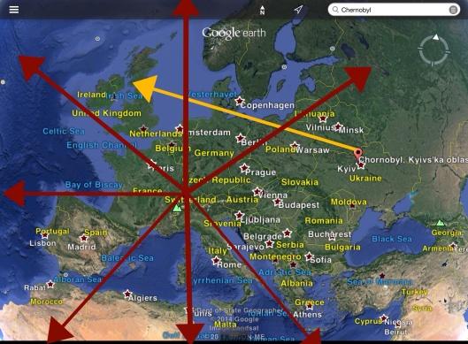 Chernobyl fallout distance, Swiss fallout