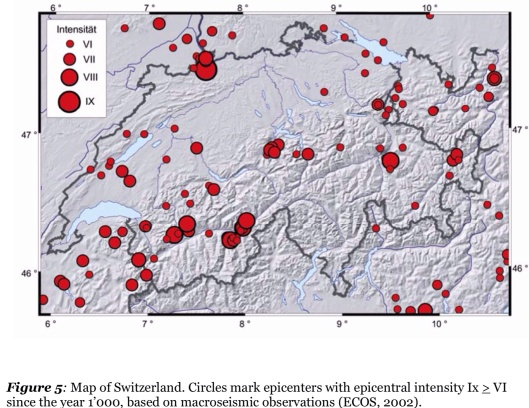 "Large earthquake Switz ""Seismic Hazard Assessment of Switzerland, 2004"", November 2004  Swiss Seismological Service"