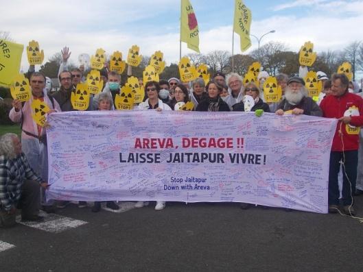 Areva Degage Stop Jaitapur Oct. 2014 protest in Germany via Dianuke.org CC-NC