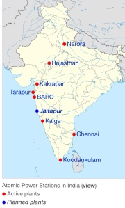 India Nuclear Power Stations from Wikipedia