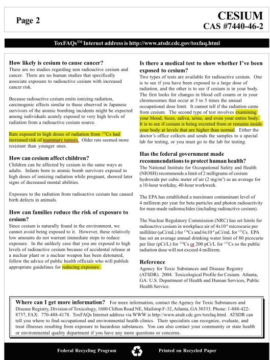 US DOH Cesium toxicity 2004 p. 2