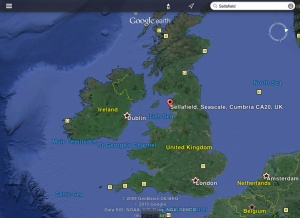 Sellafield map of UK
