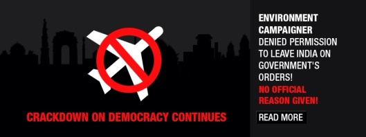 Crackdown on Democracy in India - Greenpeace
