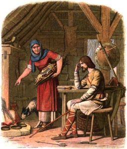 Alfred the Great, Burnt Cakes, James William Edmund Doyle, 1864
