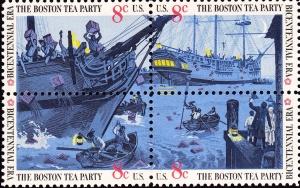 Boston Tea party Bicentennnial Stamp