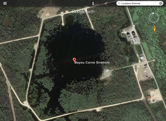 Louisiana Sinkhole at Bayou Corne