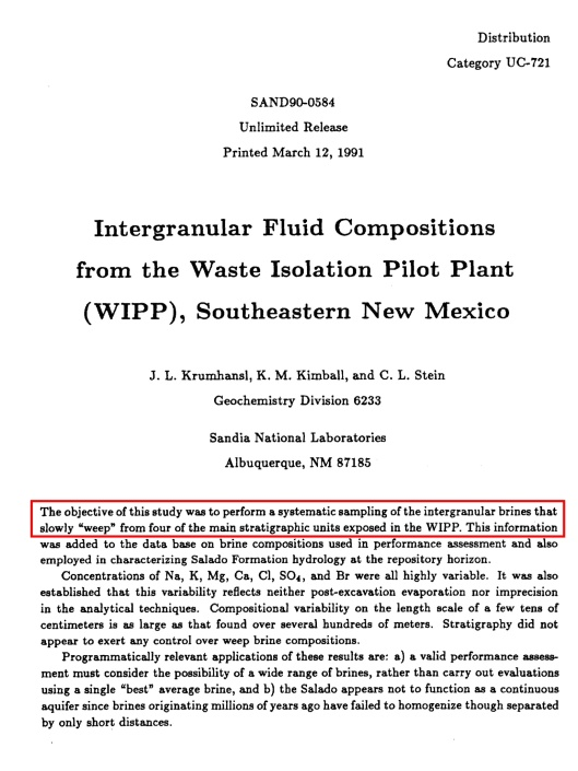 Krumhansl et. al. 1991, Intergranular_Fluid_Compositions_from_WIPP_SE_NM