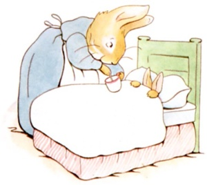 Rabbit in bed, B. Potter, 1902
