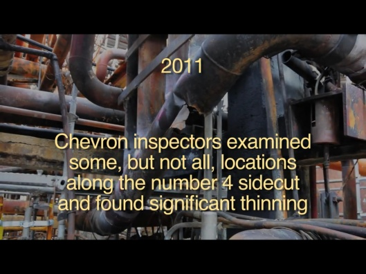 2011 inspection Chevron from CSB video