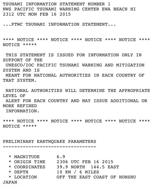 16 Feb. 2015 Tsunami warning NWS p. 1
