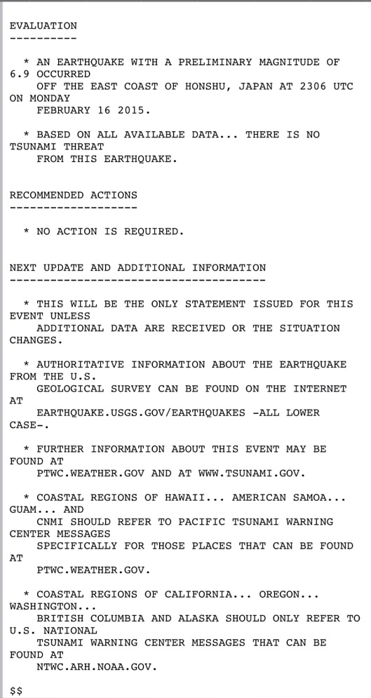 16 Feb. 2015 Tsunami warning NWS p. 2
