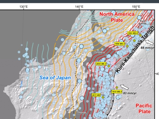 Japan earthquakes 1900 to 2012