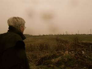 """Arnie Gundersen Looking Out over """"Moorside"""" Beckermet"""