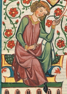 Codex Manesse Roses 1300s Cropped