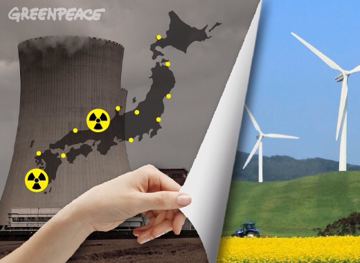 Greenpeace nuclear to wind Japan