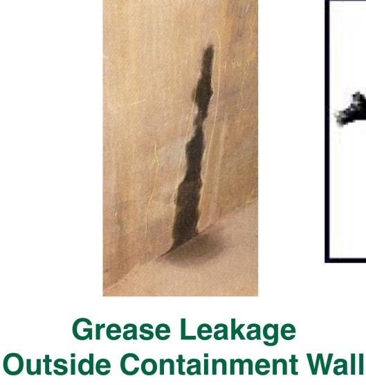 Naus, 2012, p. 18 Grease Leakage outside containment Wall