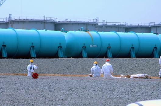 workers underground water storage pools-tanks on 17 April 2013 Fuku Greg Webb / IAEA