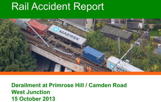 Rail Accident Investigation Branch, Department for Transport. Report 21/2014 Camden Road 7 October 2014, © Crown copyright, OGL, cover image
