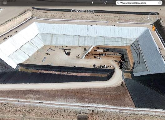 WCS Nuclear Waste Dump zoom (Texas)