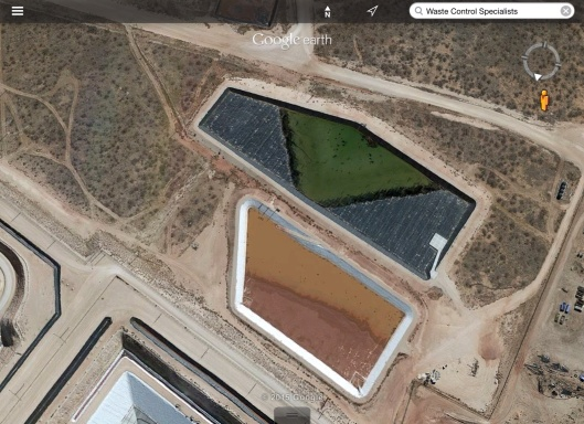 evaporation pond?  WCS rad waste Texas