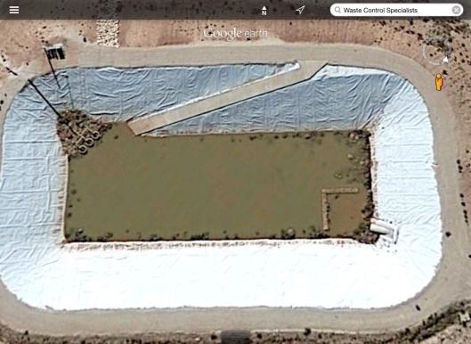 unidentified pond at WCS rad waste dump Texas
