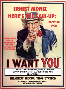 Uncle Sam want Moniz to Clean up WIPP and FUkushima, Vacation Up