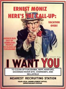 Uncle Sam want Moniz to Clean up WIPP and FUkushima, Vacation Up