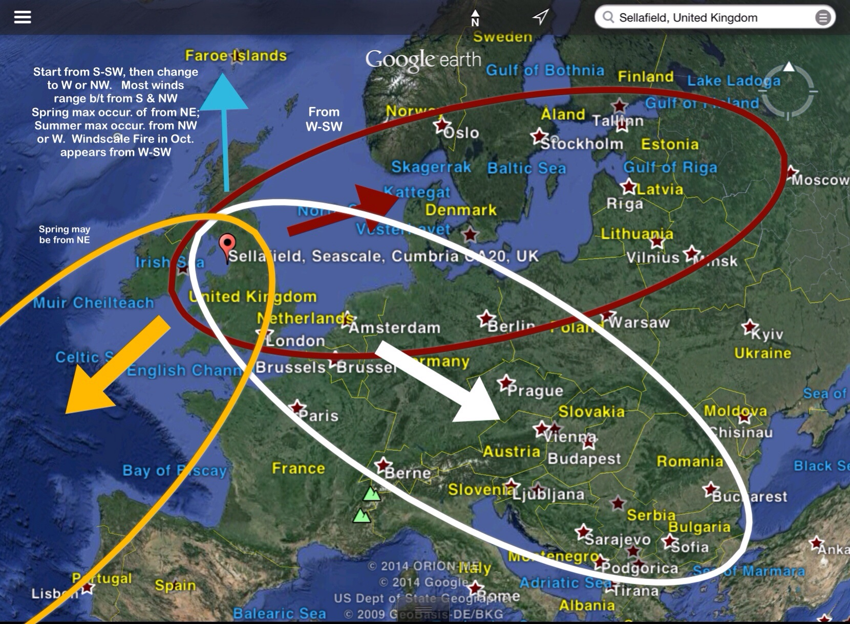 Windscale Moorside Sellafield Accident ImpactFallout Map - Radiation map in us