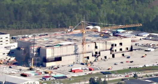 Cropped Aerial photo of MOX plant taken on April 21,  ©High Flyer, SRS Watch Air Force