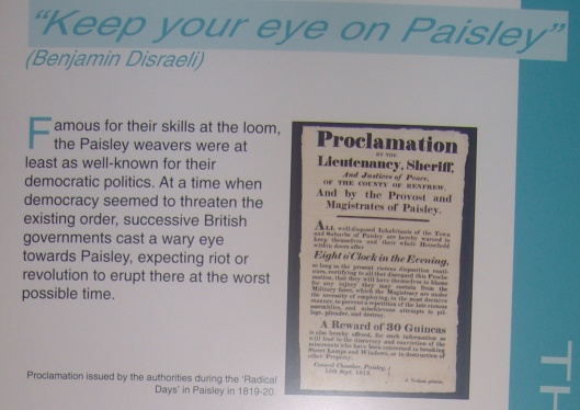 Paisley Democracy, Paisley Museum part 1