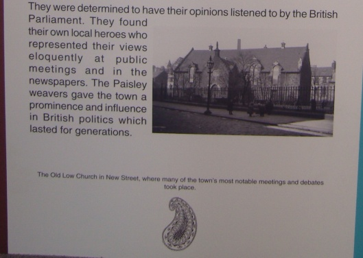 Paisley Democracy, Paisley Museum part 3