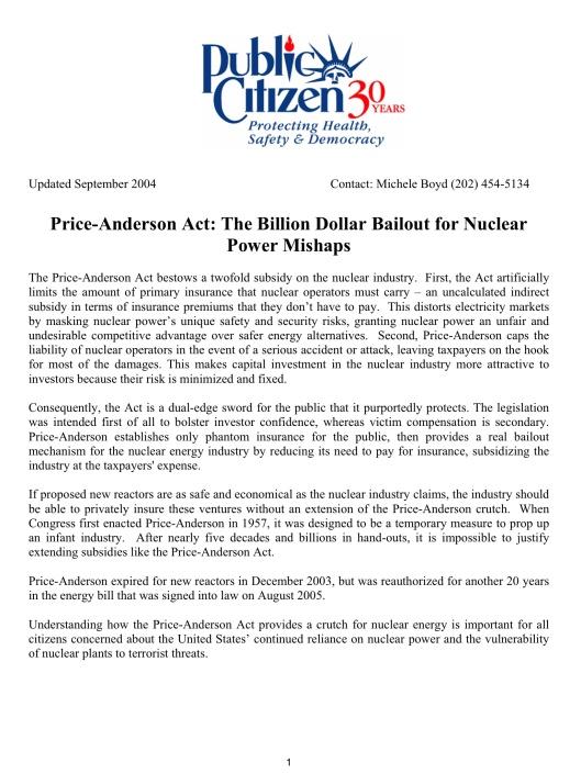 https://www.citizen.org/documents/Price%20Anderson%20Factsheet.pdf p. 1