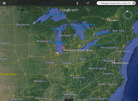 Palisades Nuclear Location Great Lakes