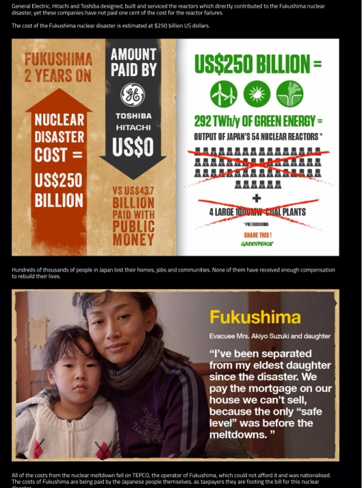 Greenpeace.org - They Profit You Pay Fukushima
