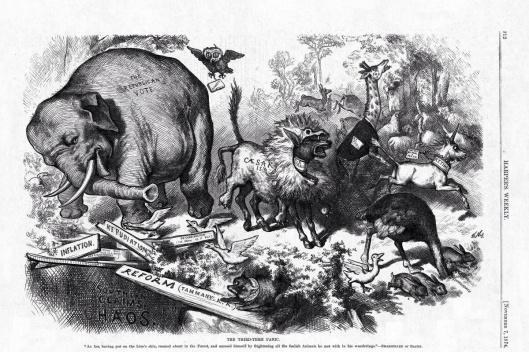 """The Third-Term Panic"", by Thomas Nast 7 November 1874."