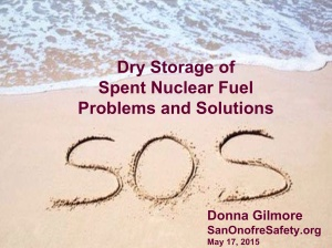 Dry Storage SNF SOS Donna Gilmore 17 May 2015