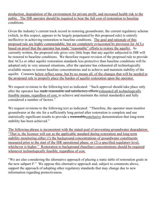 Navajo Nation Department of Justice, ISL Water Restoration [DOCKET EPA–HQ–OAR–2012–0788; FRL–9909–20–OAR], p. 3