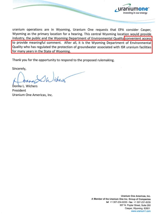Uranium One Feb. 9, 2015 request for extension to EPA p. 2