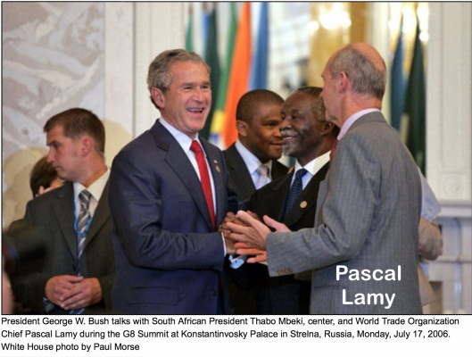 Pascal Lamy and George Bush White House gov
