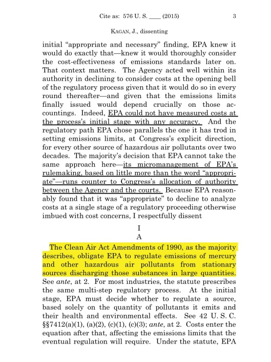 Cite as: 576 U. S. ____ (2015)  KAGAN, J., dissenting , p. 3