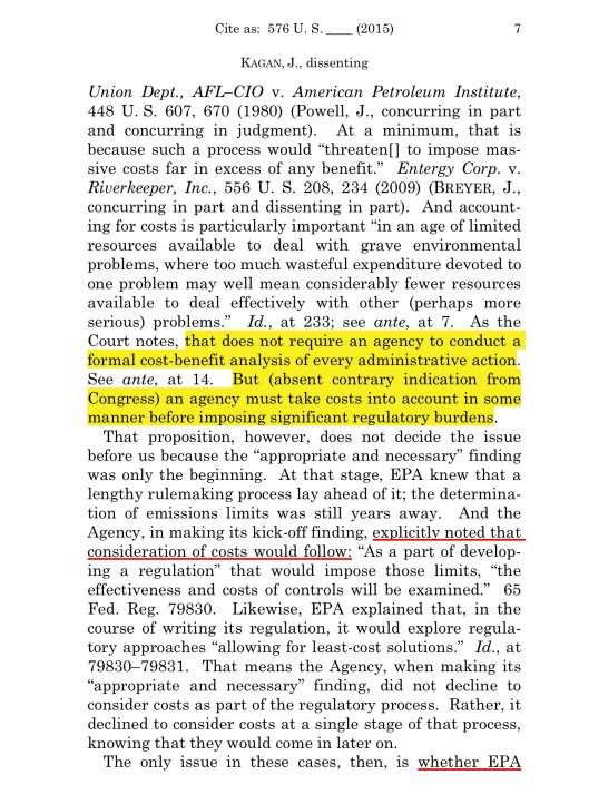 Cite as: 576 U. S. ____ (2015)  KAGAN, J., dissenting, p. 7